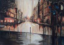 Stadtlandschaft, Stadt, Paris, Malerei