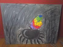 Schmetterling, Blumen, Malerei, Welt