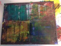 Abstrakt, Spachtel, Jahreszeiten, Malerei