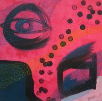 Malerei, Abstrakt, Mischtechnik, Seh
