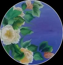 One stroke, Blumen, Blau, Anfänger