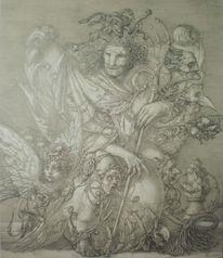 Zeichnung, Flügel, Bestiarium, Apokalypse