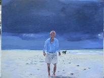 Meer, Strand, Menschen, Malerei