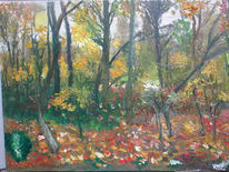 Blätter, Mystik, Novemberstimmung, Malerei