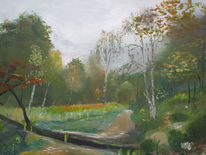 Herbst, Ems, Himmel, Malerei