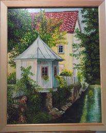 Nonnensteg, Ölmalerei, Erfurt, Malerei