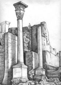 Rom, Zeichnung, Forum romanum, Zeichnungen