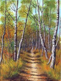 Baum, Natur, Malerei