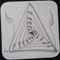 Gekritzel, Gewirr, Schwarz, Paradox