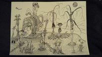 Abstrakt, Meine zeichnung, Mischtechnik, Zeichnungen
