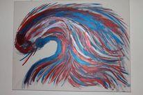 Malerei, Farben, Abstrakt, Rot