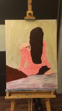 Expressionismus, Frau, Acrylmalerei, Farben