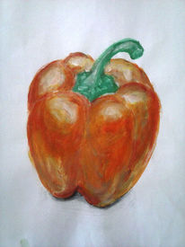 Orange, Paprika, Natur, Gemüse
