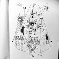 Kugelschreiber, Skizze, Blumen, Hoffnung