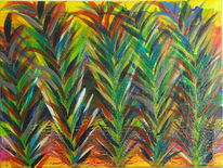 Gras, Rot schwarz, Abstrakt, Grün