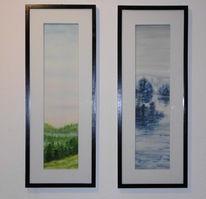 Wasser, Stimmung, Aquarellmalerei, Grün