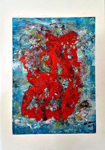 Unwetter, Fantasie, Abstrakt, Acrylmalerei