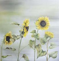 Blumen, Gelb, Sonnenblumen, Natur