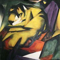 Bunt, Nach gemalt, Tiger, Modern