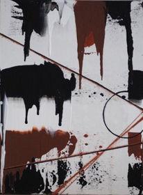 Braun, Schwarz weiß, Malerei, Bunt