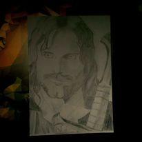 Zeichnung, Portrait, Schwarz, Zeichnungen