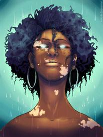 Vitiligo, Fantasie, Mädchen, Sommersprossen