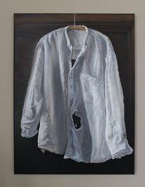 Kleiderbügel, Hemd, Falten, Loch