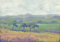 Malerei, Natur, Mischtechnik, Landschaft