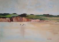 Wasser, Malerei, Meer, Landschaft