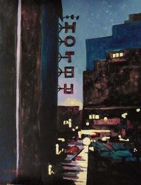 Licht, Abend, Straße, Hotel