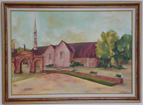 Baum, Rot bretagne, Kirche, Dorf