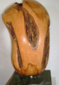 Holzskulptur, Wacholder, Rinde, Figur
