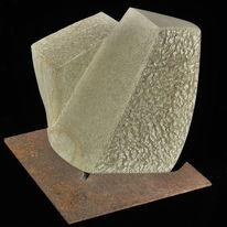 Bruchlinie, Skulptur, Verwerfung, Sandstein