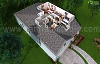 3d, Haus, Rendering, Grundriss