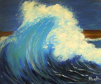 Strand, Bewegung, Wasser, Welle