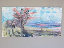 Landschaft, Gewalt, Frau, Malerei