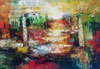 Abstrakte malerei, Moderne malerei, Gemälde abstrakt, Spachteltechnik
