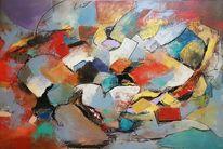 Acrylmalerei, Gemälde abstrakt, Abstrakte kunst, Moderne kunst