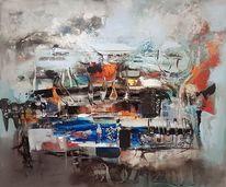 Abstrakte kunst, Acrylmalerei, Abstrakte malerei, Moderne malerei