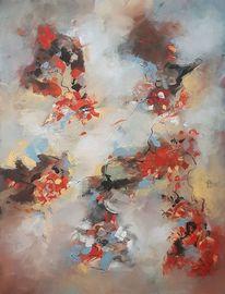 Zeitgenössische malerei, Acrylmalerei, Abstrakte kunst, Gemälde abstrakt