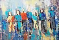 Abstrakte kunst, Spachteltechnik, Gemälde abstrakt, Moderne malerei
