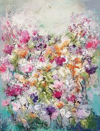 Abstrakte kunst, Acrylmalerei, Gemälde abstrakt, Blumen