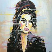Moderne malerei, Gesicht, Zeitgenössische malerei, Portrait abstrakt