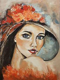 Frau, Acrylmalerei, Malerei, Portrait