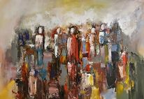 Zeitgenössische kunst, Moderne malerei, Menschen, Zeitgenössische malerei