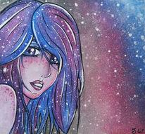 Manga, Fantasie, Malerei, Nacht
