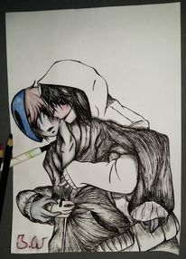 Creepypasta, Zeichnung, Manga, Zeichnungen