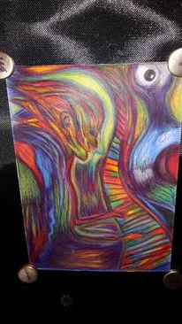 Surreal, Rot, Abstrakt, Zeichnungen