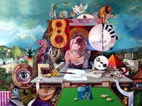 Surreal, Acrylmalerei, Figural, Augen
