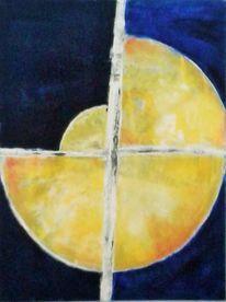 Kreis, Acrylmalerei, Weiß, Mond